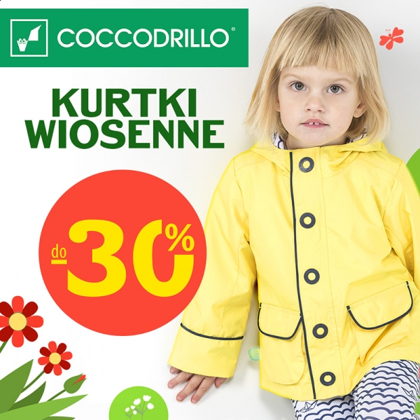Coccodrillo: 30% zniżki na kurtki wiosenne