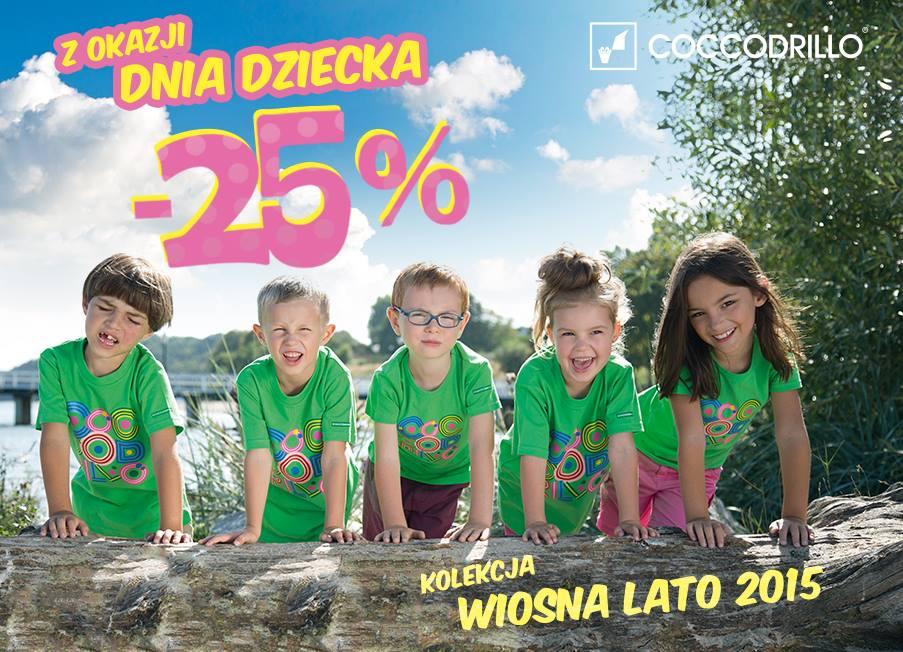 Coccodrillo: 25% rabat na Dzień Dziecka