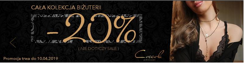 Coccola Jewellery Coccola Jewellery: 20% rabatu na całą kolekcję biżuterii