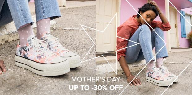 Converse Converse: do 30% zniżki na odzież oraz buty sportowe z okazji Dnia Mamy