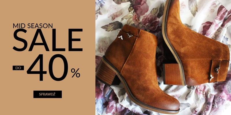 CoZaButy: wyprzedaż do 40% zniżki na buty damskie i męskie                         title=