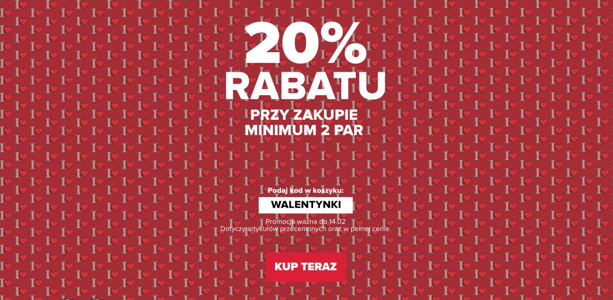 Crocs: 20% zniżki na obuwie przy zakupie 2 par - promocja Walentynkowa
