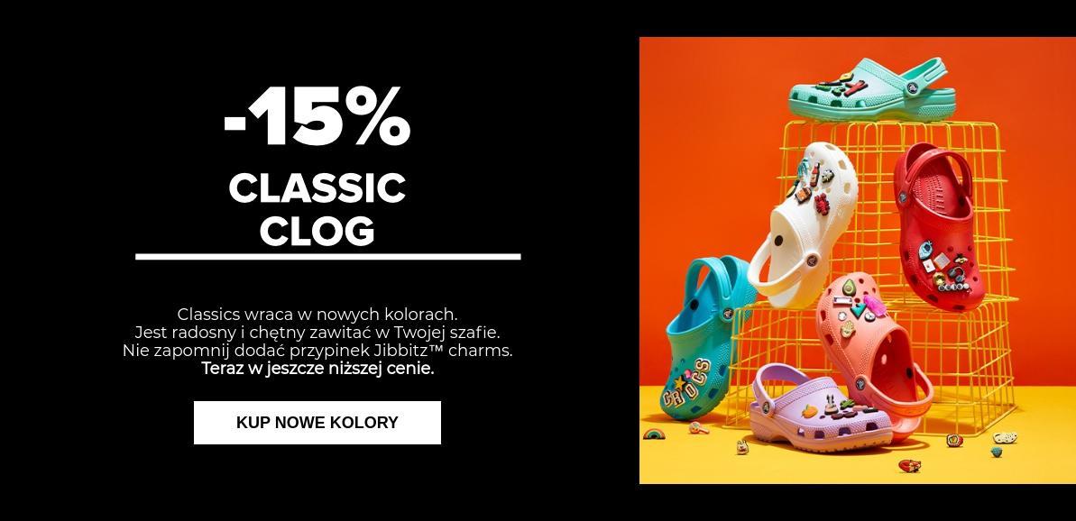 Crocs: promocja 15% rabatu na model obuwia Classic Clog