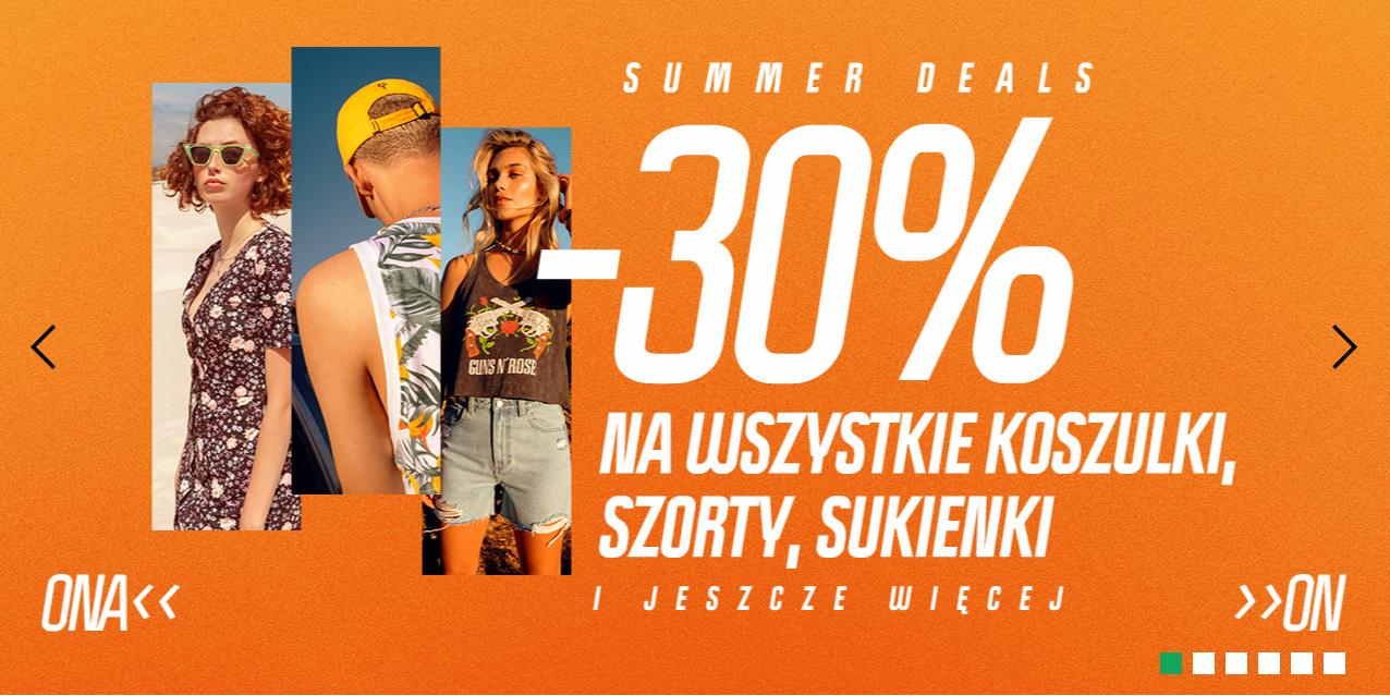 Cropp: 30% rabatu na wszystkie koszulki, szorty, sukienki i wiele więcej produktów                         title=