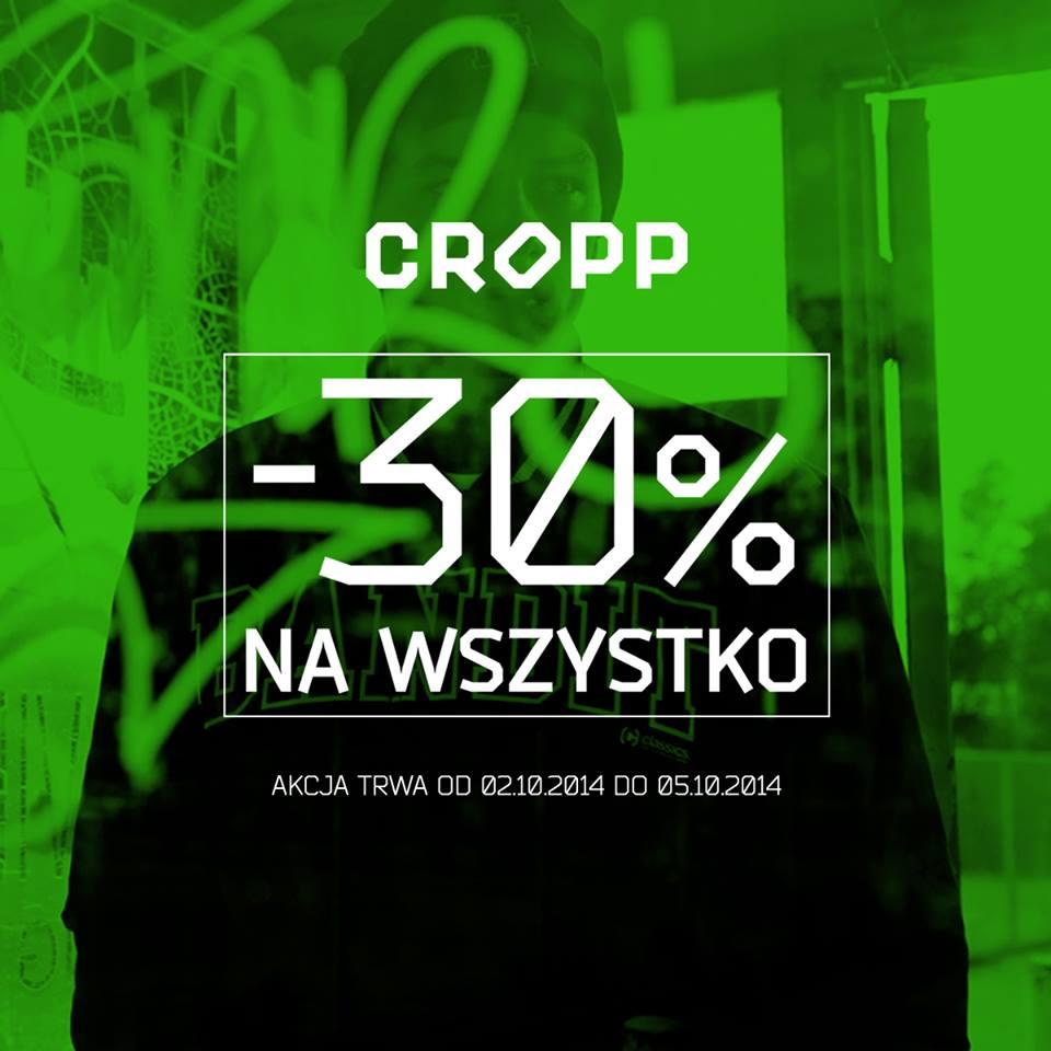 30% kupon rabatowy do Cropp w całej Polsce