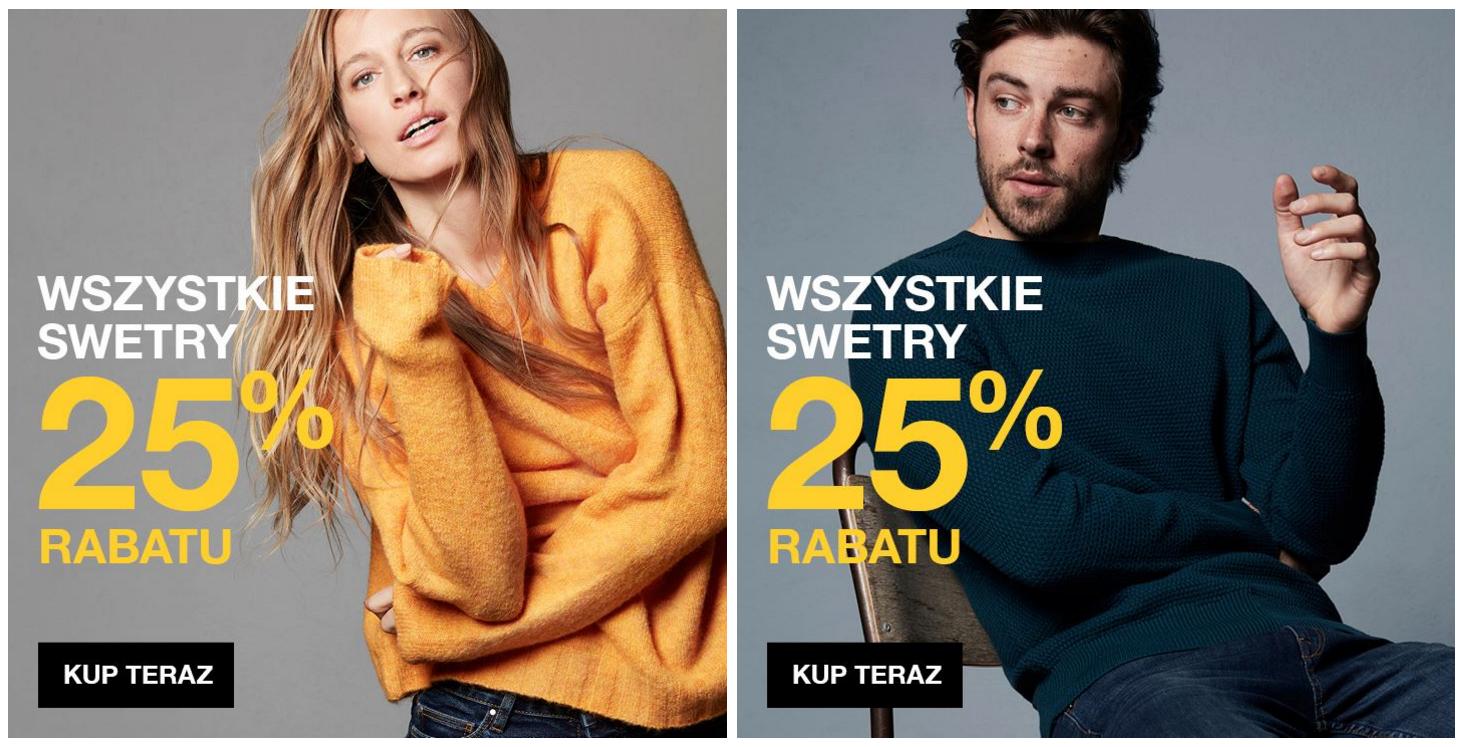Cubus: 20% zniżki na wszystkie swetry