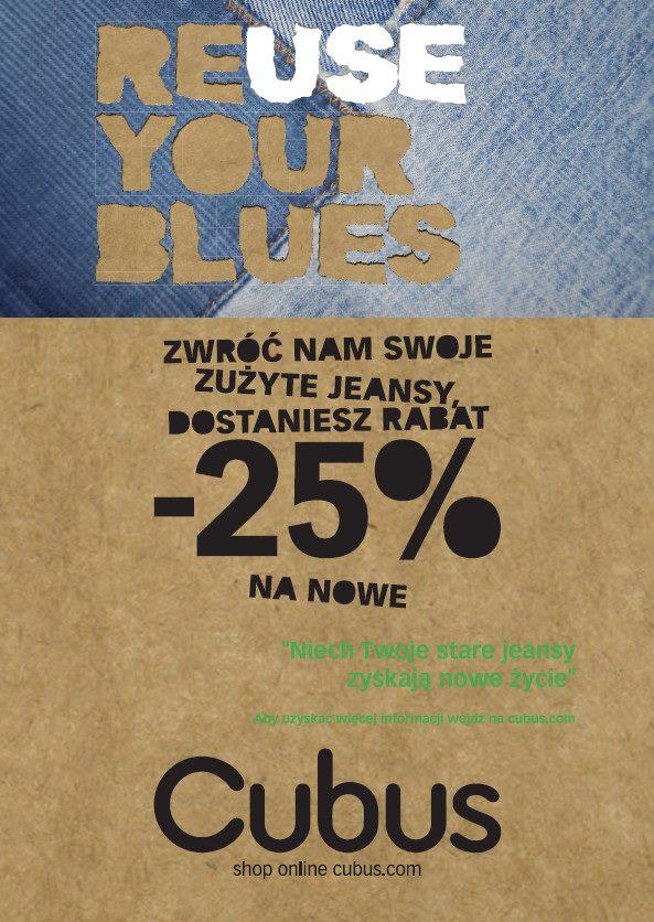 Cubus: 25% zniżki na jeansy w zamian za stare jeansy
