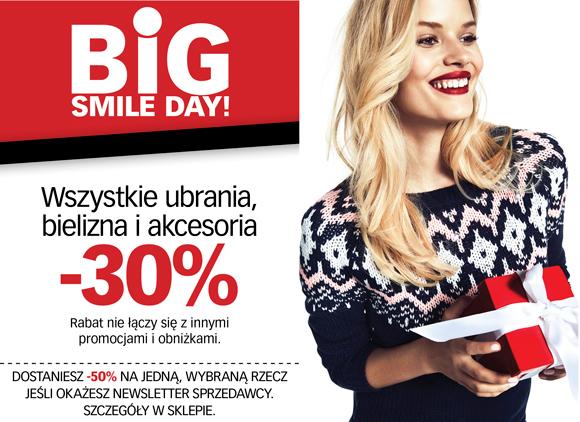 Cubus Big Smile Day: 30% zniżki na wszystkie ubrania, bieliznę, akcesoria