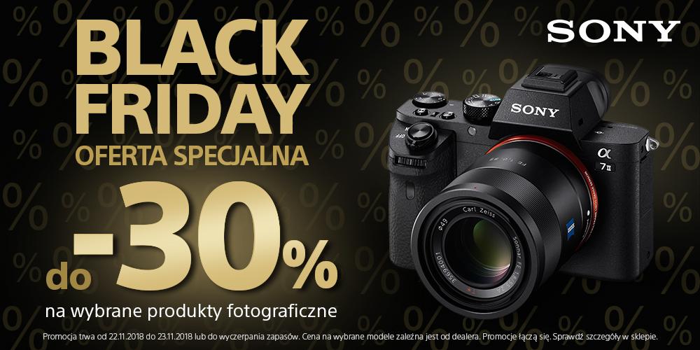 Black Friday Cyfrowe: do 30% zniżki na wybrane produkty fotograficzne marki Sony