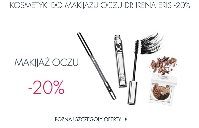Dr Irena Eris: 20% rabatu na kosmetyki do makijażu oczu