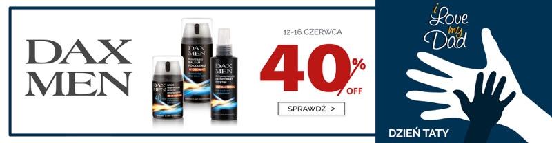 Dax Cosmetics: 40% zniżki na kosmetyki męskie na Dzień Taty