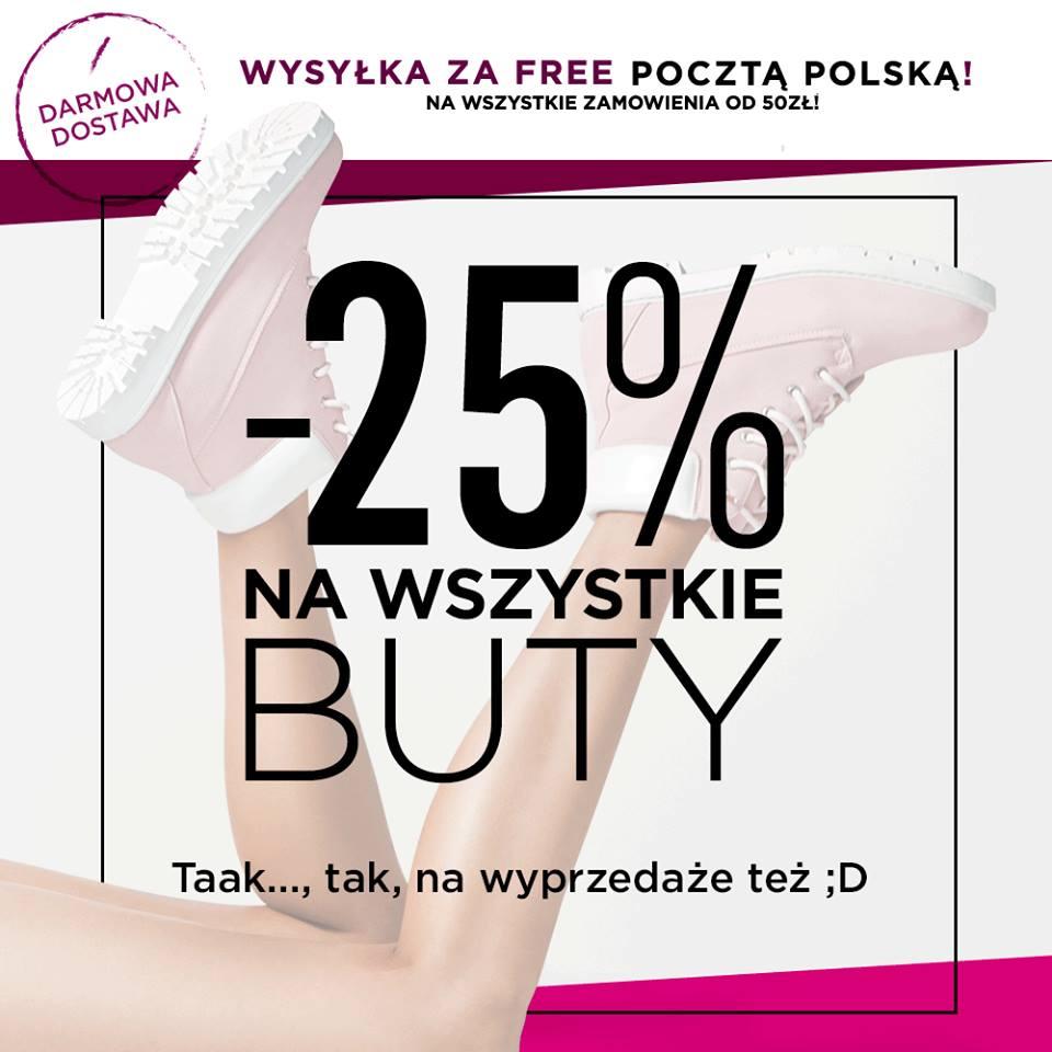 DeeZee: 25% zniżki na wszystkie buty