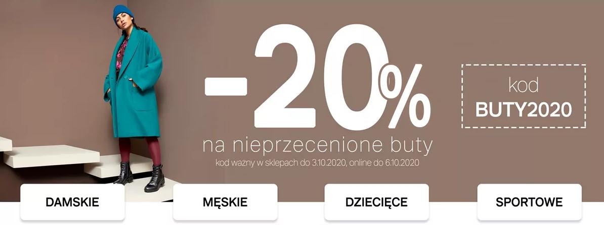 Deichmann: 20% zniżki na nieprzecenione buty                         title=