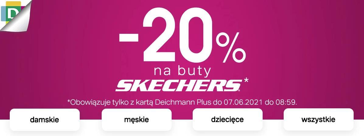 Deichmann Deichmann: 20% zniżki na buty Skechers