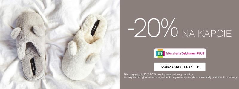 Deichmann: 20% zniżki na kapcie damskie, męskie i dziecięce                         title=