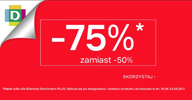 Deichmann: wyprzedaż 75% rabatu na wybrane modele obuwia