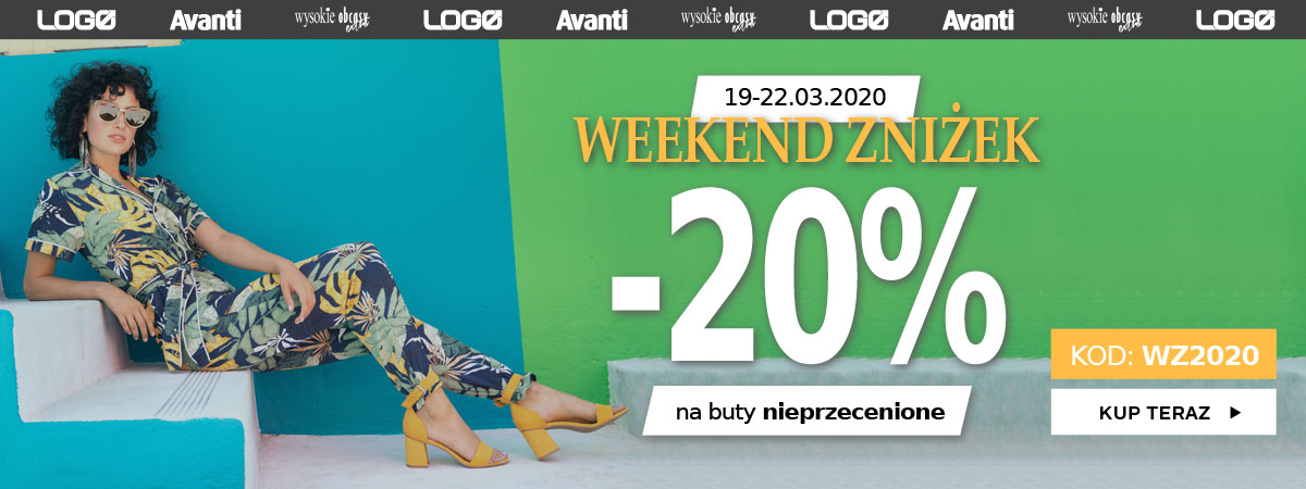 Deichmann: Weekend Zniżek 20% zniżki na buty nieprzecenione                         title=