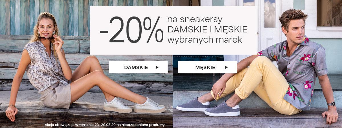 Deichmann: 20% zniżki na sneakersy damskie i męskie                         title=