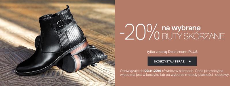 Deichmann: 20% rabatu na wybrane buty skórzane                         title=