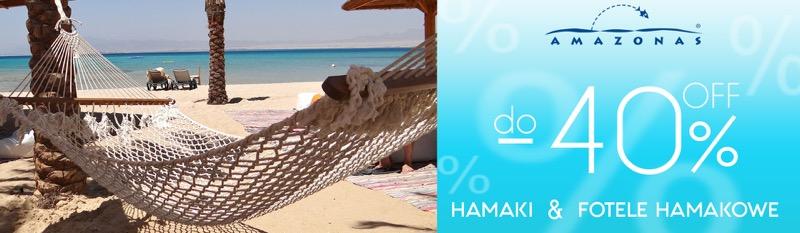 Dekoracja Domu: do 40% zniżki na hamaki i fotele hamakowe