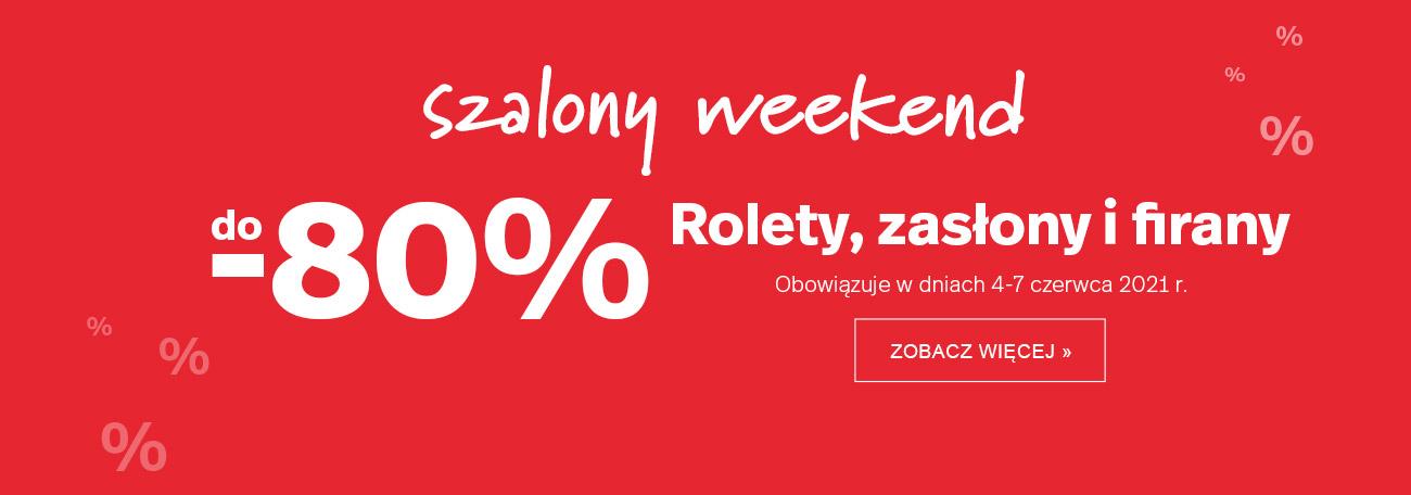 Dekoria: do 80% rabatu na rolety, zasłony i firany - Szalony Weekend