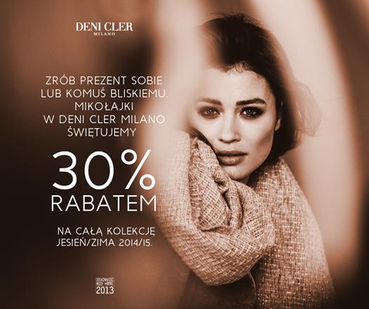 Deni Cler Milano: promocja 30% na Mikołajki