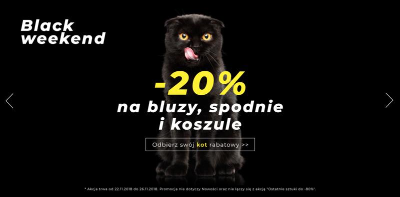 Black Weekend Denley: 20% rabatu na bluzy, spodnie i koszule                         title=