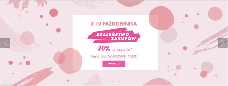 Dermo-Cosme Shop: Szaleństwo Zakupów 20% rabatu na kosmetyki do pielęgnacji twarzy, ciała i włosów