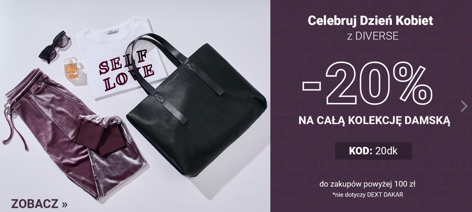 Diverse: 20% rabatu na całą kolekcję odzieży damskiej - promocja na Dzień Kobiet