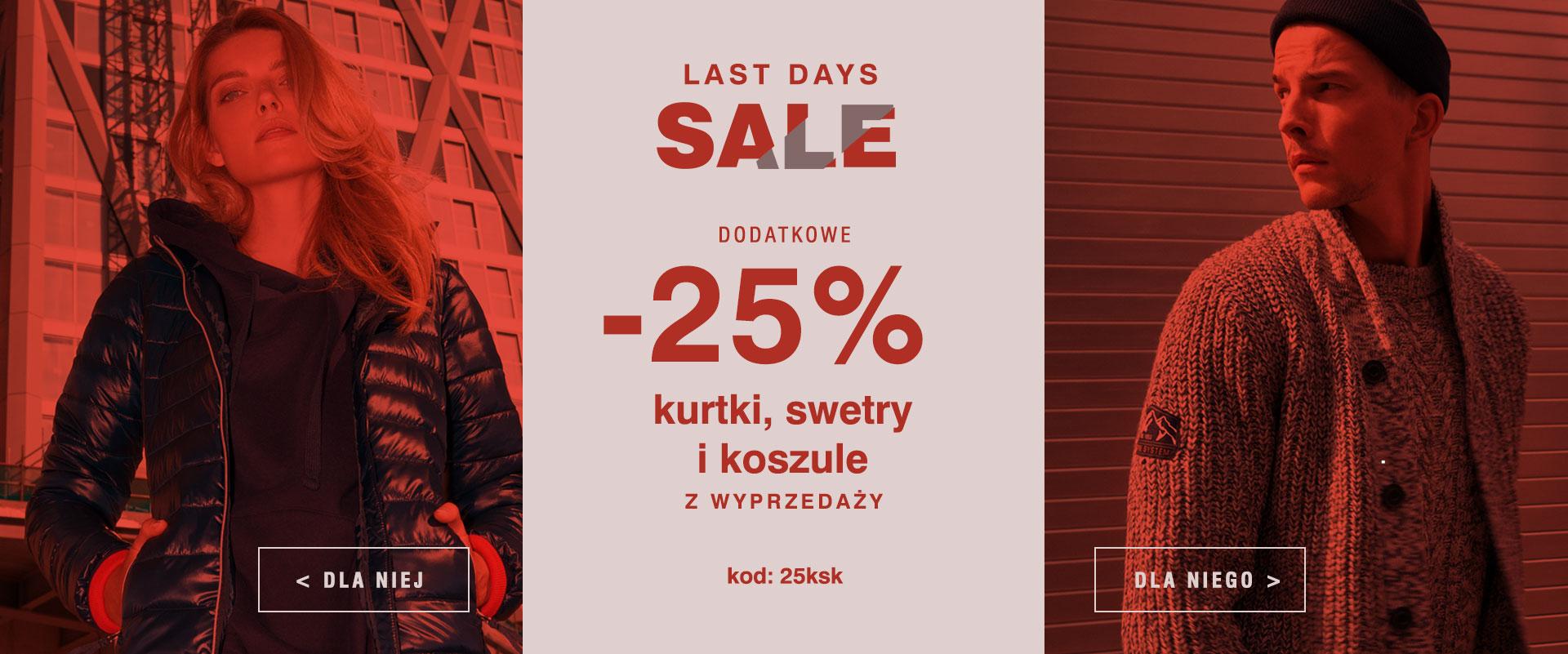 Diverse Diverse: dodatkowe 25% zniżki na kurtki, swetry i koszule