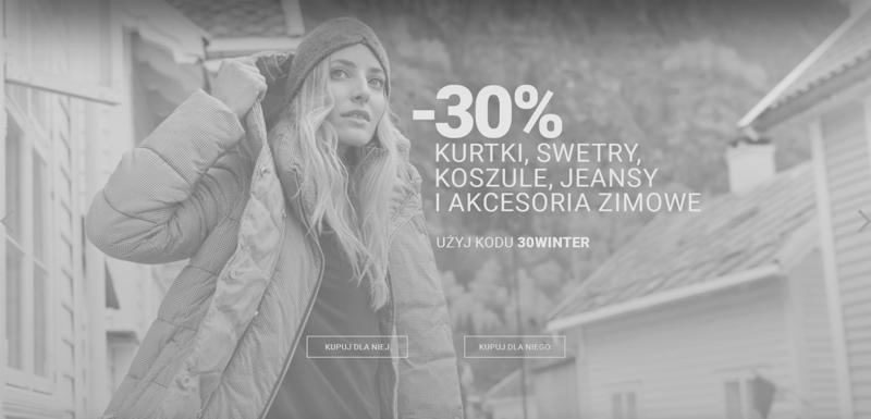 Diverse: 30% zniżki na kurtki, swetry, koszule, jeansy i akcesoria zimowe