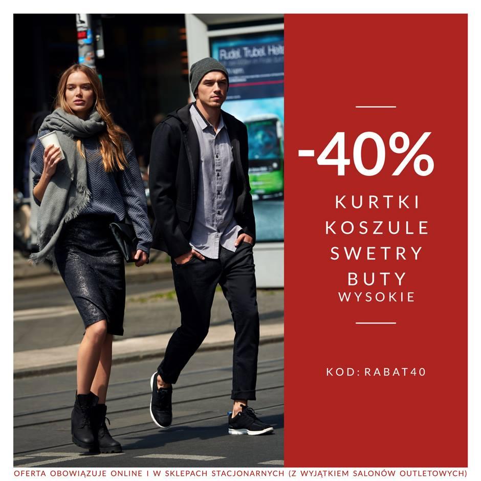 Diverse: 40% zniżki na kurtki, koszule, swetry oraz buty