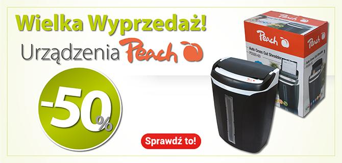 DlaBiura24: 50% zniżki na urządzenia marki Peach                         title=