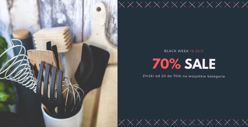 Black Week Domoli: wyprzedaż do 70% rabatu na akcesoria kuchenne