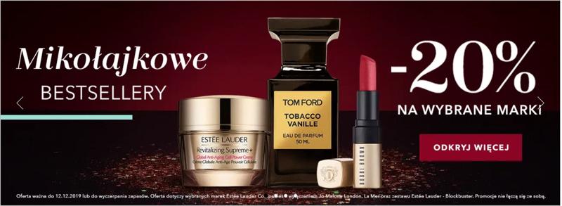 Douglas: 20% rabatu na perfumy oraz kosmetyki do makijażu i
