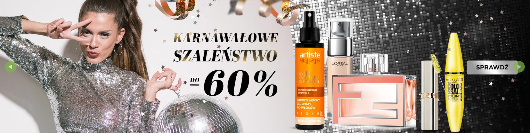 Drogerie Natura: 60% zniżki na kosmetyki do makijażu, pielęgnacji ciała oraz zapachy