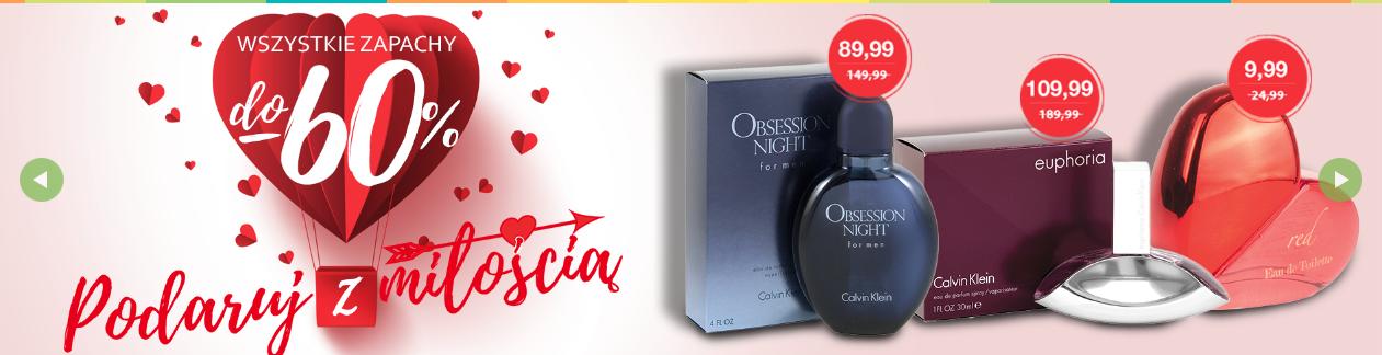Drogerie Natura: Walentynkowa promocja do 60% zniżki na wszystkie zapachy