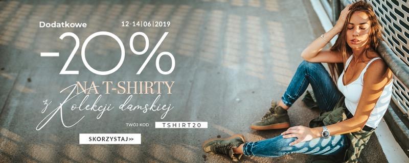 Dstreet: dodatkowe 20% rabatu na t-shirty z kolekcji damskiej