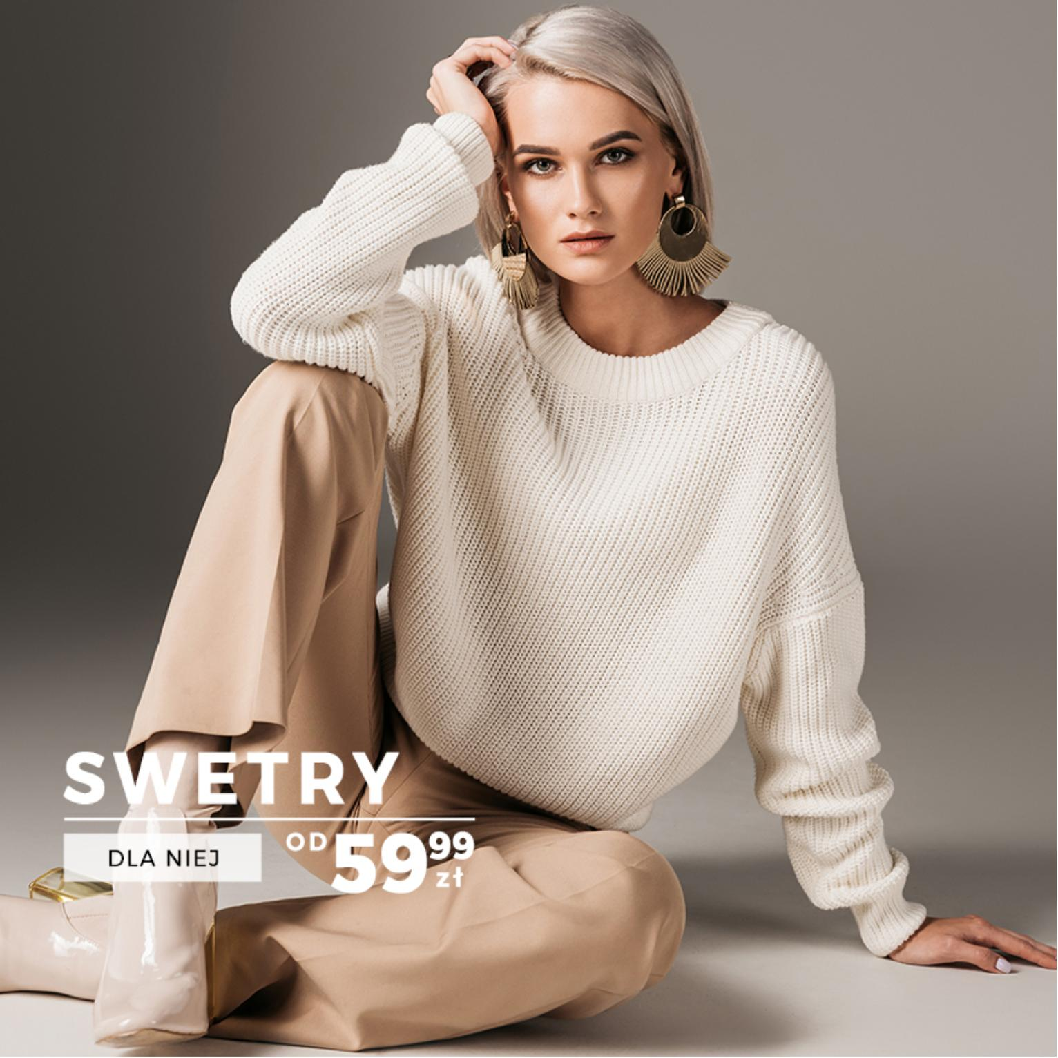Dstreet: swetry damskie od 59,99 zł