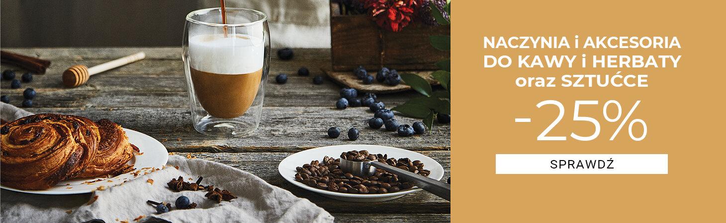 Duka: 25% rabatu na naczynia i akcesoria do kawy i herbaty oraz sztućce