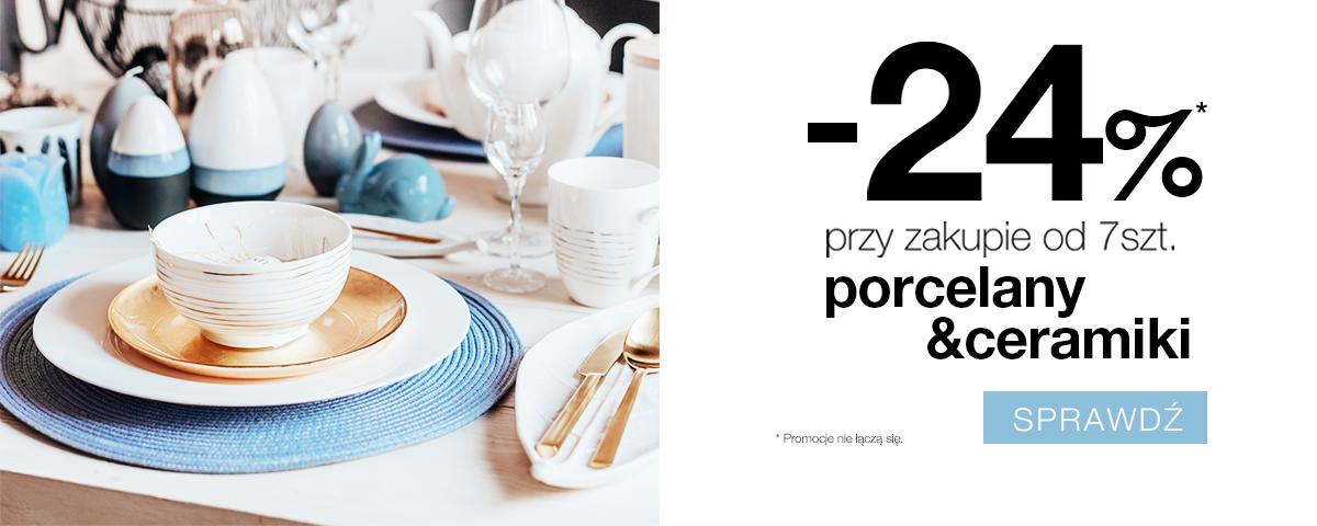 Duka: 24% rabatu na porcelanę i ceramikę