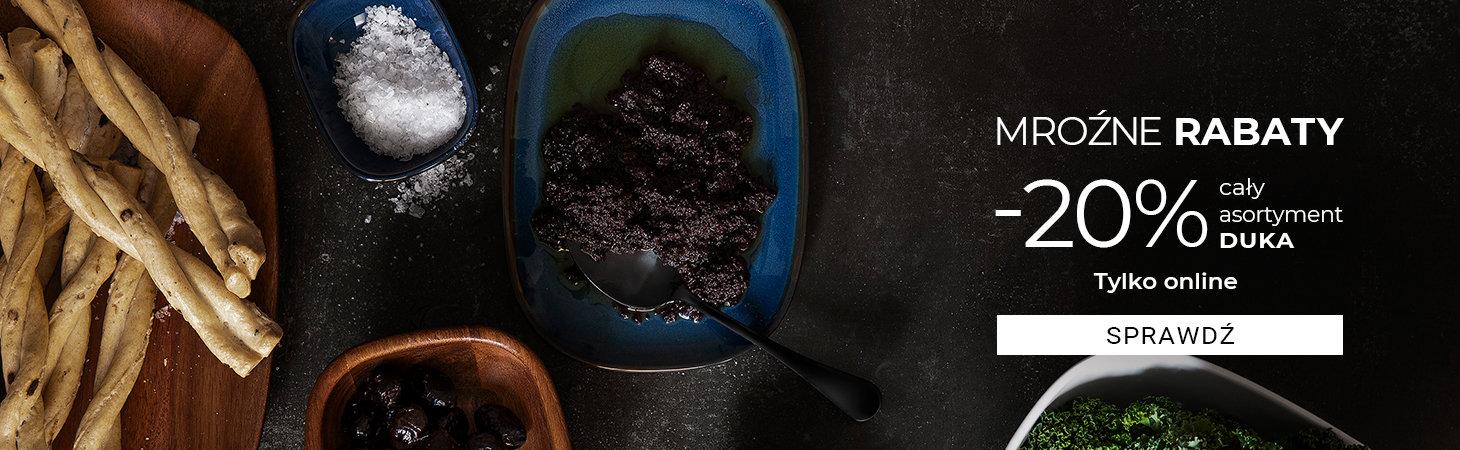 Duka: Mroźne Rabaty 20% zniżki na cały asortyment kuchenny