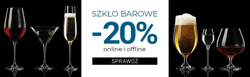Duka: 20% rabatu na szkło barowe                         title=