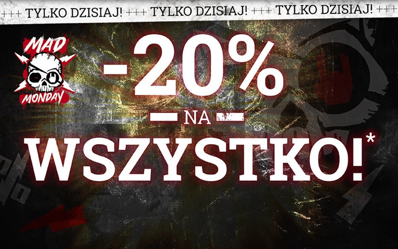 Cyber Monday EMP Shop: 20% rabatu na odzież w stylu rock, metal & entertainment