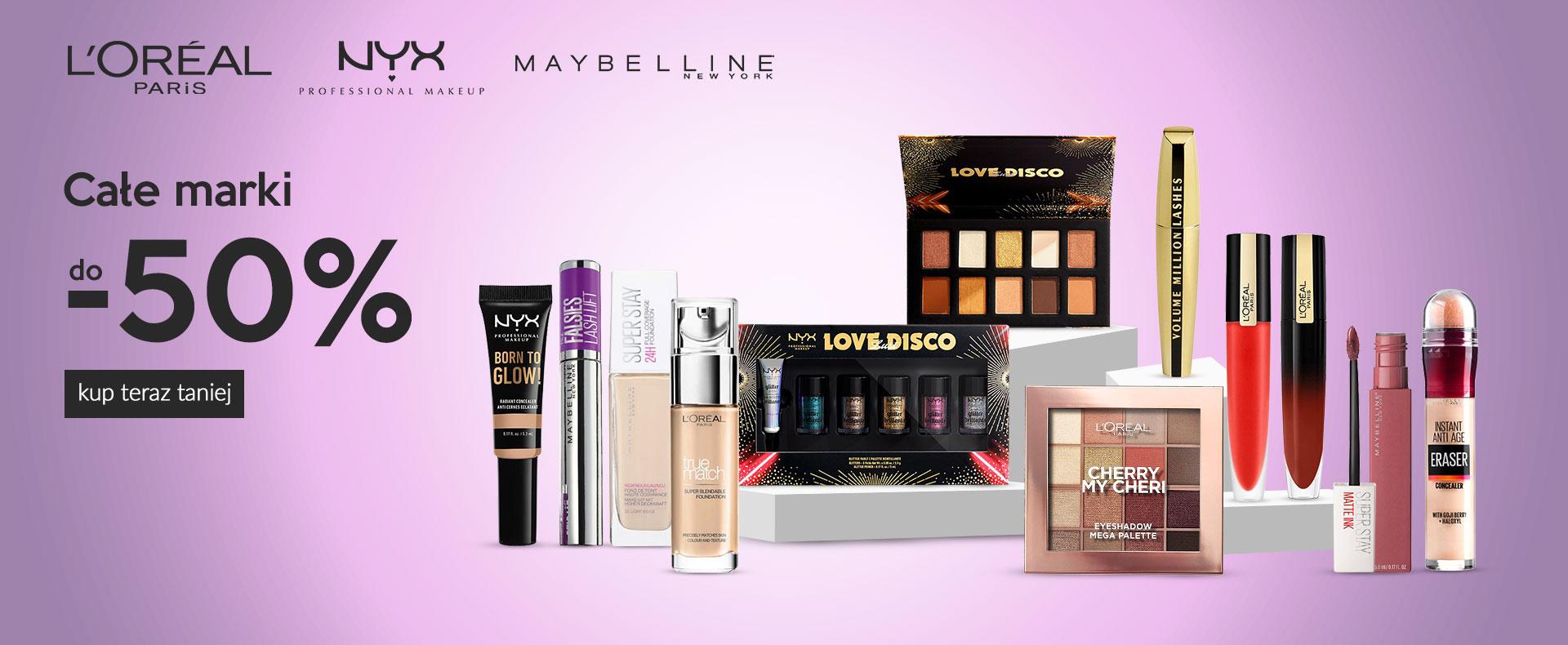 Ezebra: do 50% rabatu na kosmetyki marek L'Oreal, NYX, Maybelline