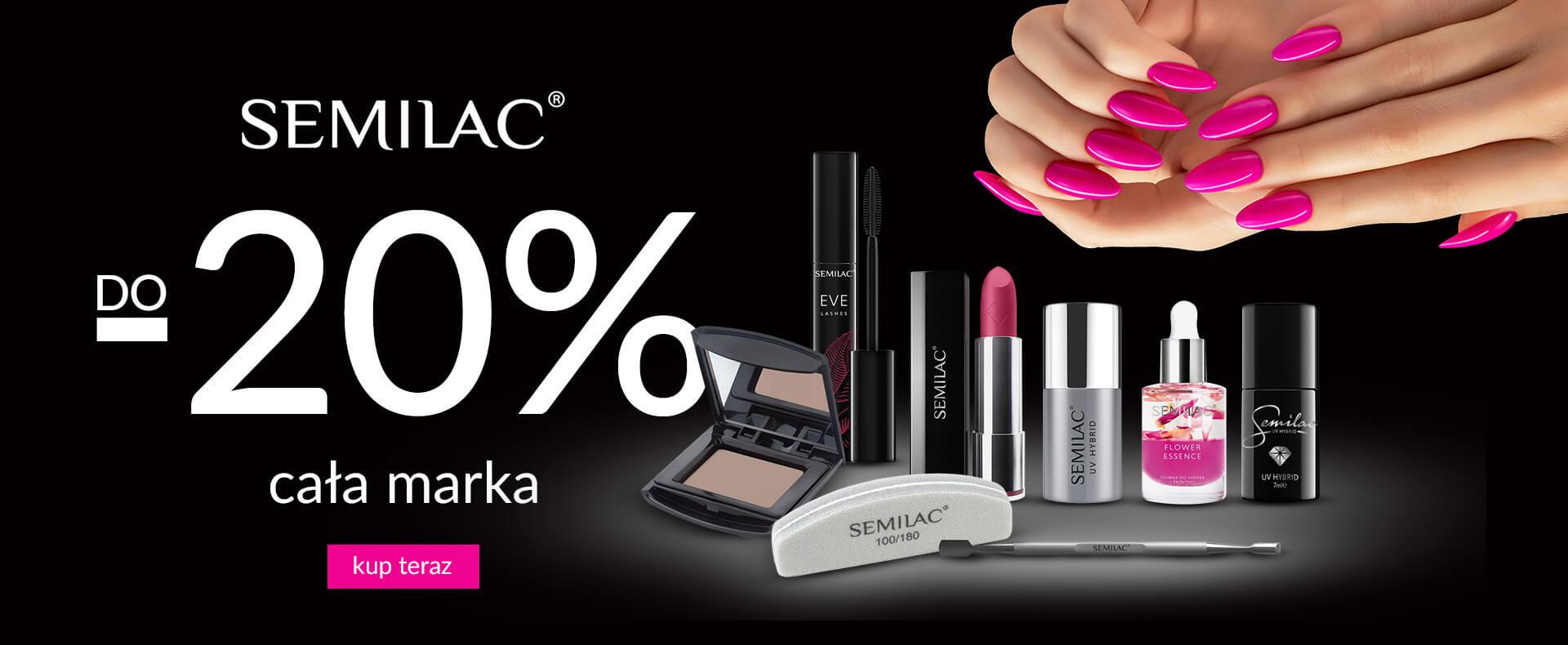 Ezebra: 20% zniżki na kosmetyki do paznokci marki Semilac                         title=