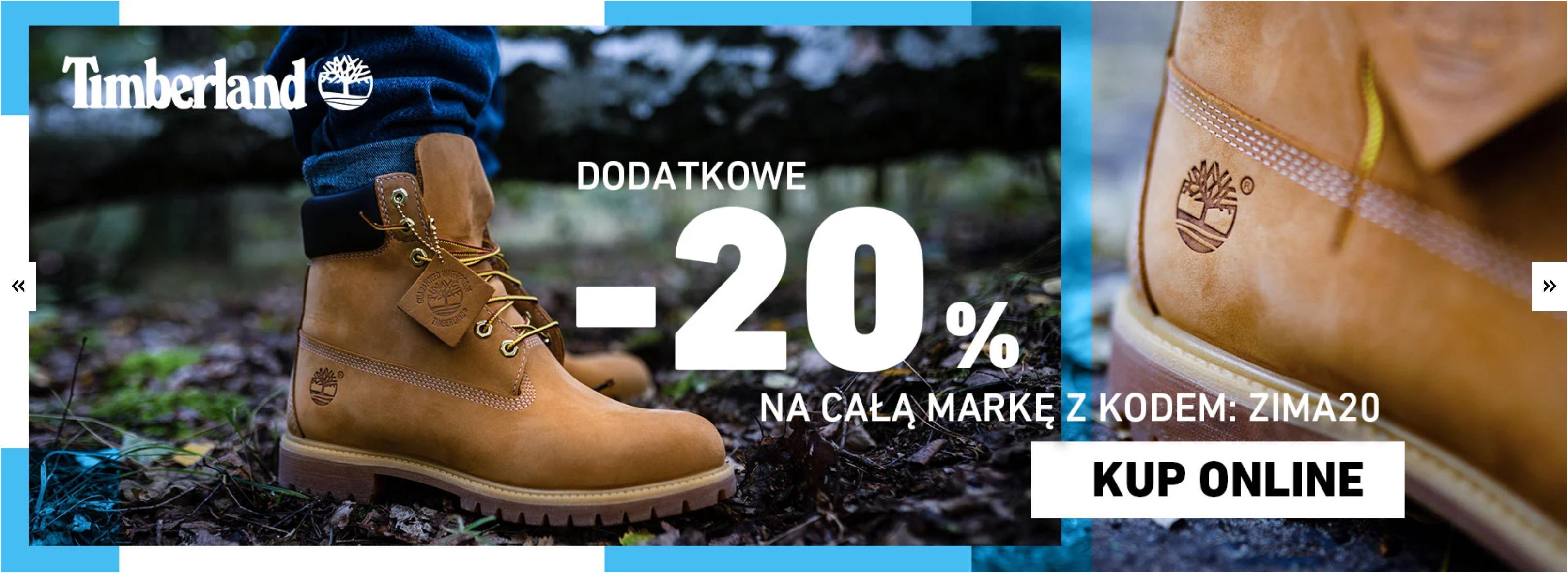 Eastend: dodatkowe 20% rabatu na buty marki Timberland