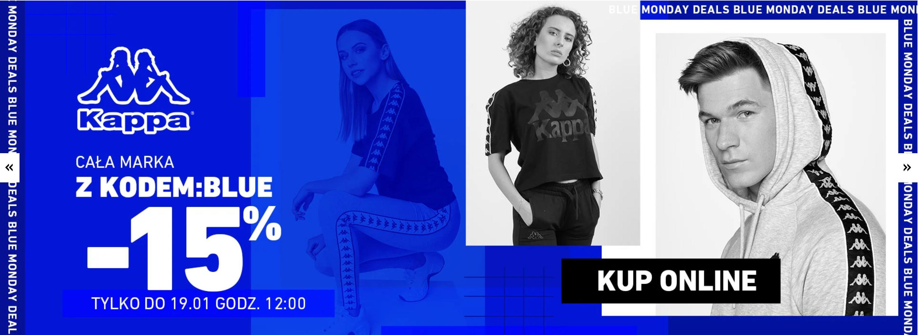 Eastend: z okazji Blue Monday 15% zniżki na obuwie i odzież marki Kappa