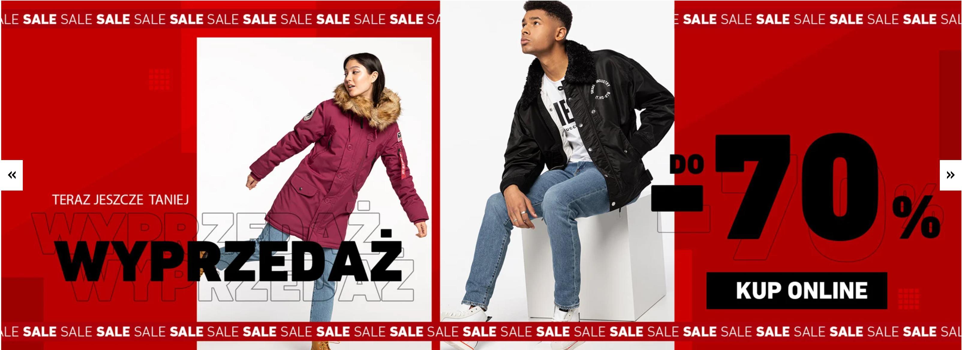 Eastend: wyprzedaż do 70% zniżki na odzież i obuwie streetwear