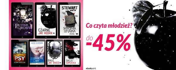Ebookpoint: do 45% zniżki na książki dla młodzieży